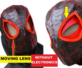 Spider Man Miles Morales Mask With Moving Lenses and No Electronics