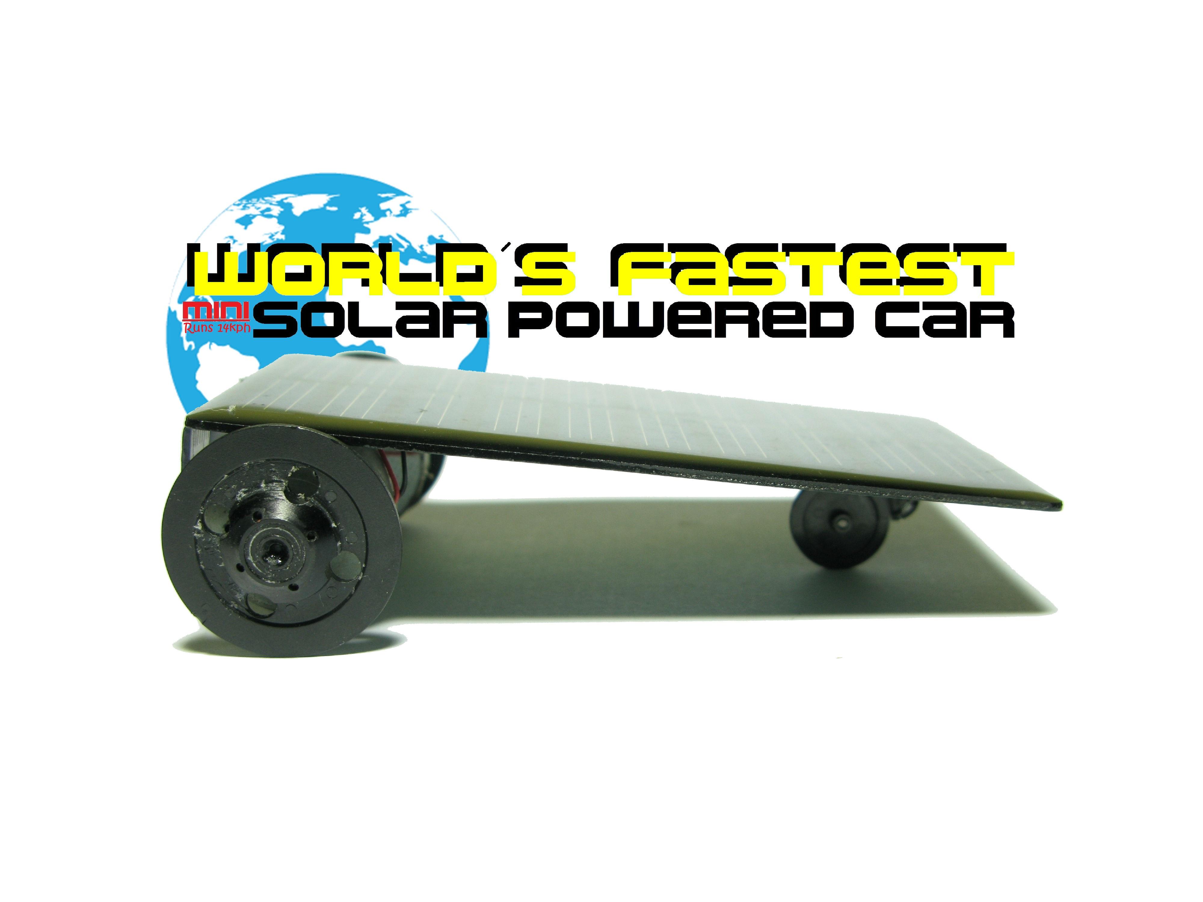 DIY Mini Solar Car! (14kph Toy)