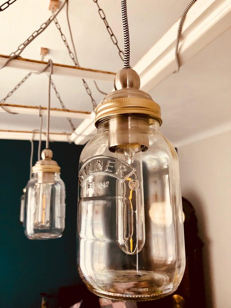 Mason Jar Lamp From an Old Window