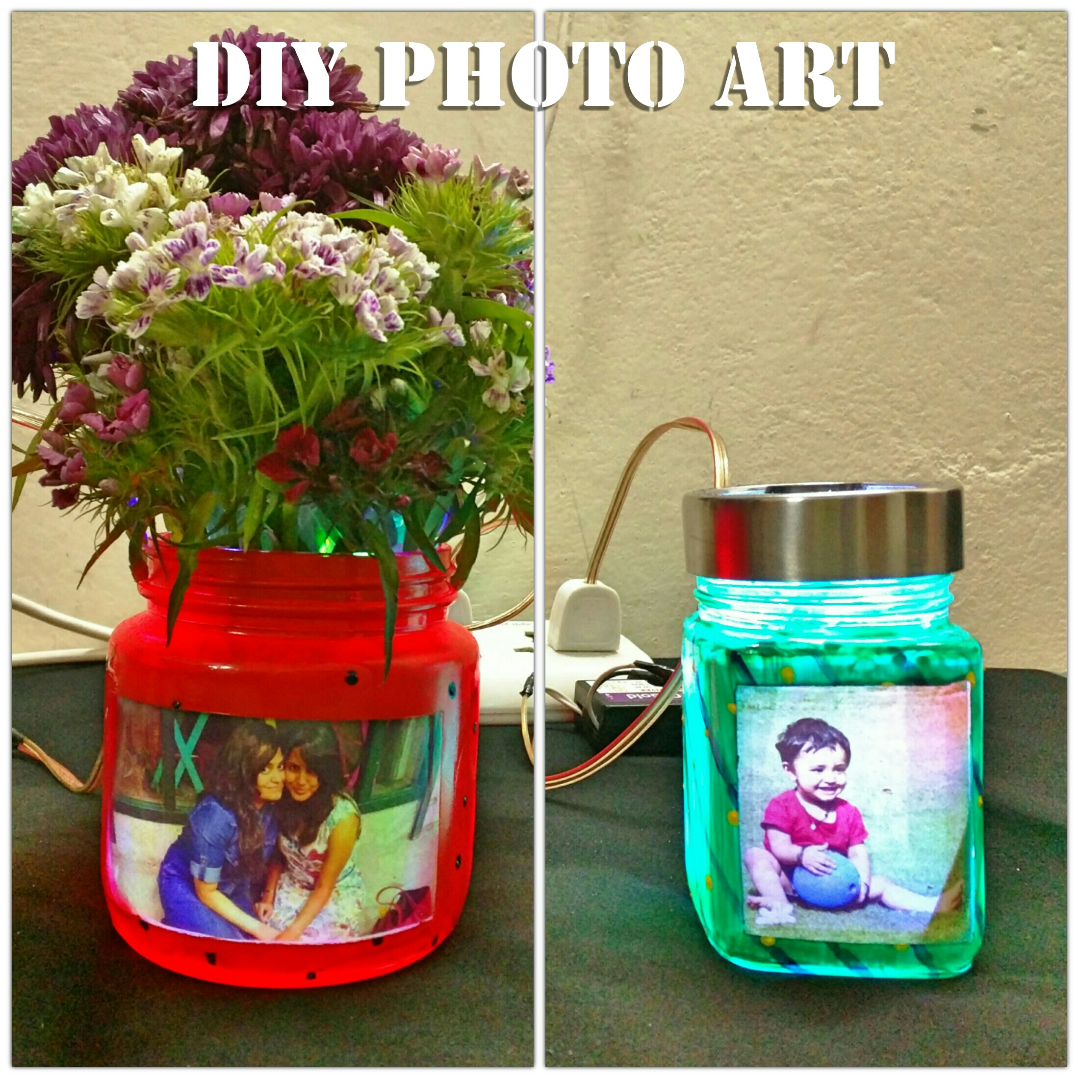 DIY Photo Night-light Cum Vase