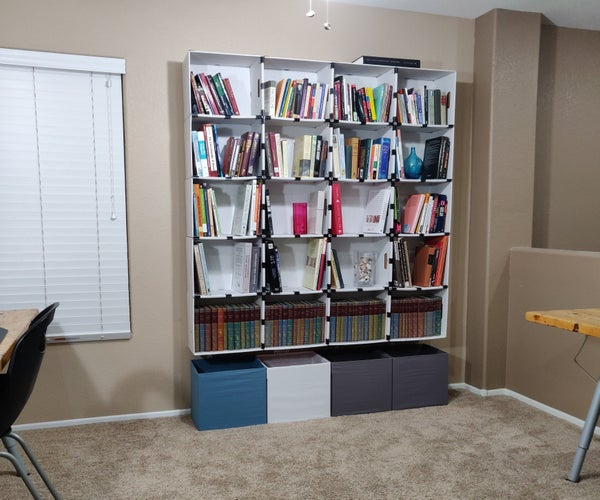Library Shelving From Boxes