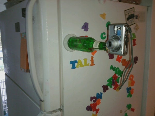 Magnetic Beer Bottle Camera Stand