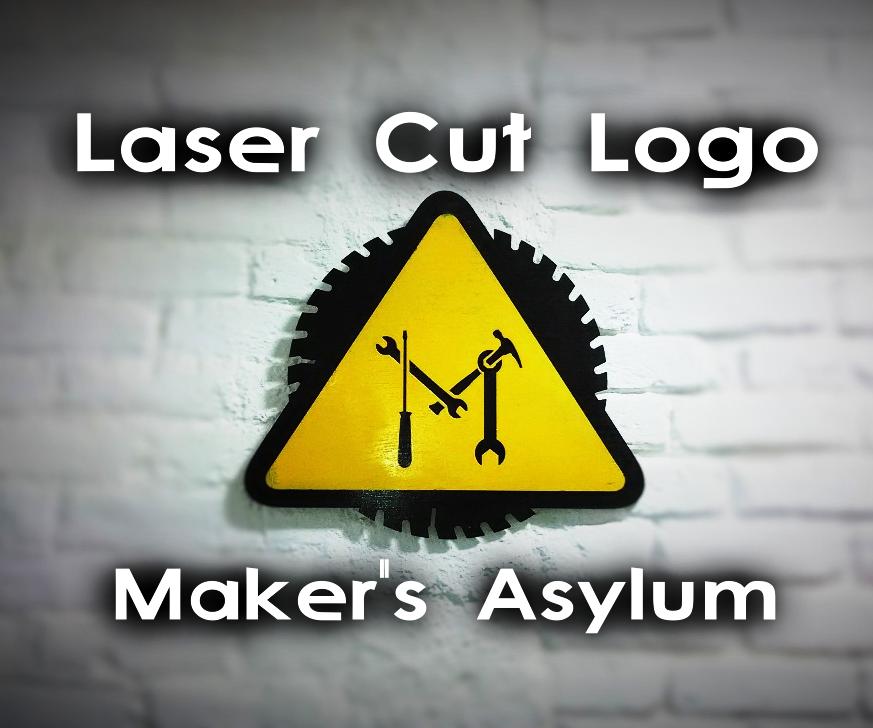 Maker's Asylum Laser Cut Logo