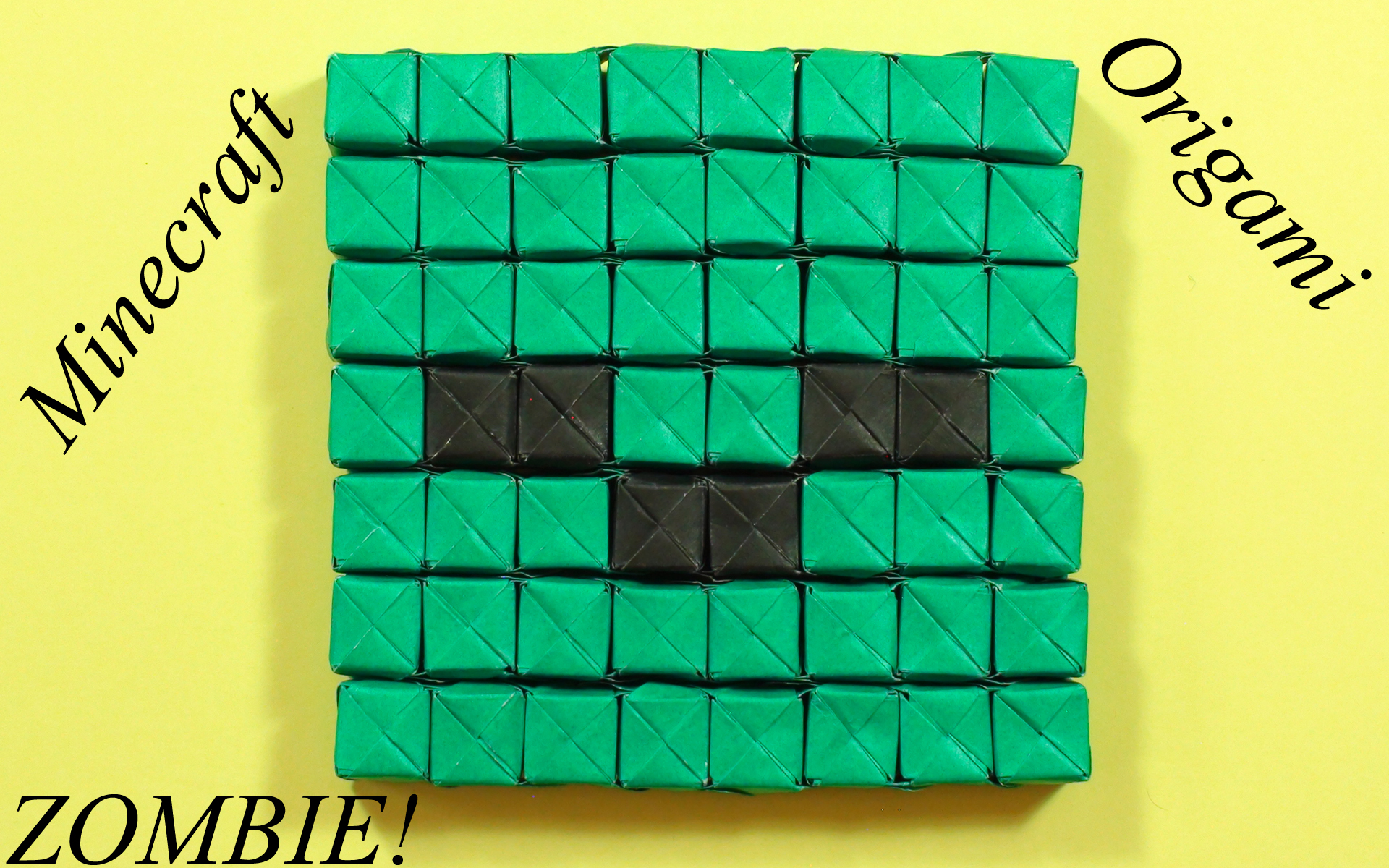 How to make a Zombie Face Sonobe Minecraft Origami!