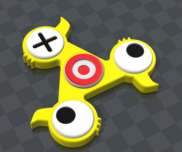 Duck Hunt Fidget Spinner in Fusion 360