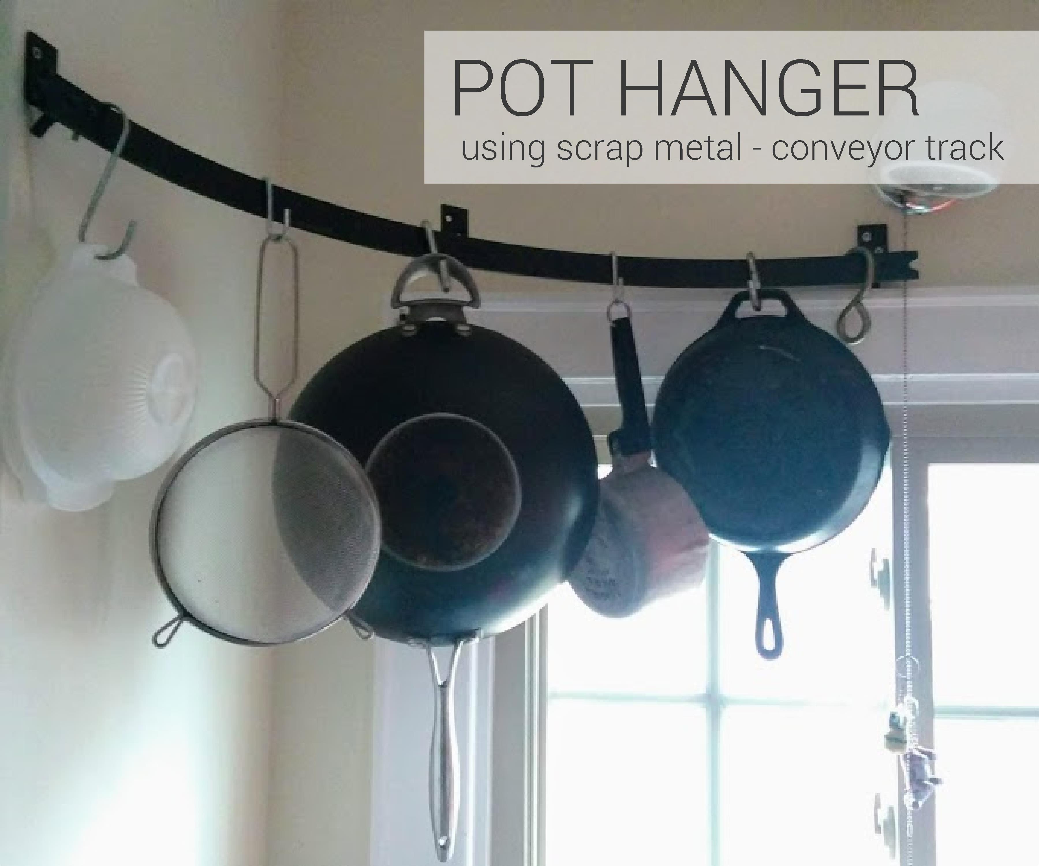 Scrap Metal Pot Hanger