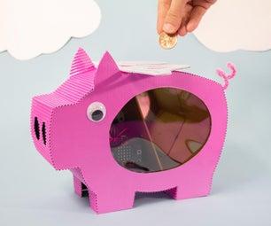 """""""当猪飞行时""""微:Bit Powered Piggy Bank"""