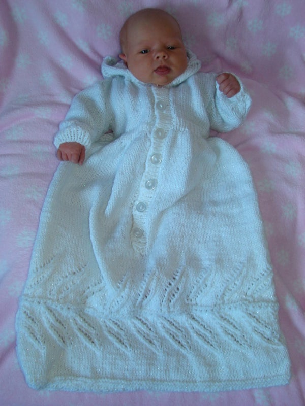 Daddy, Baby Brenna, and the Baptismal Gown!