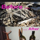 Before and After Wine Bottle Holder
