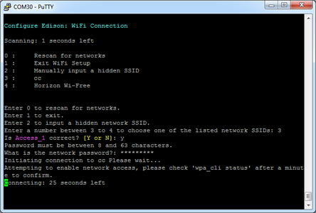 Configure the Edison Part 1 - Wifi and Network Tools