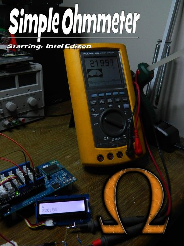 Intel Edisson: Digital Ohmmeter (voltage Divider)