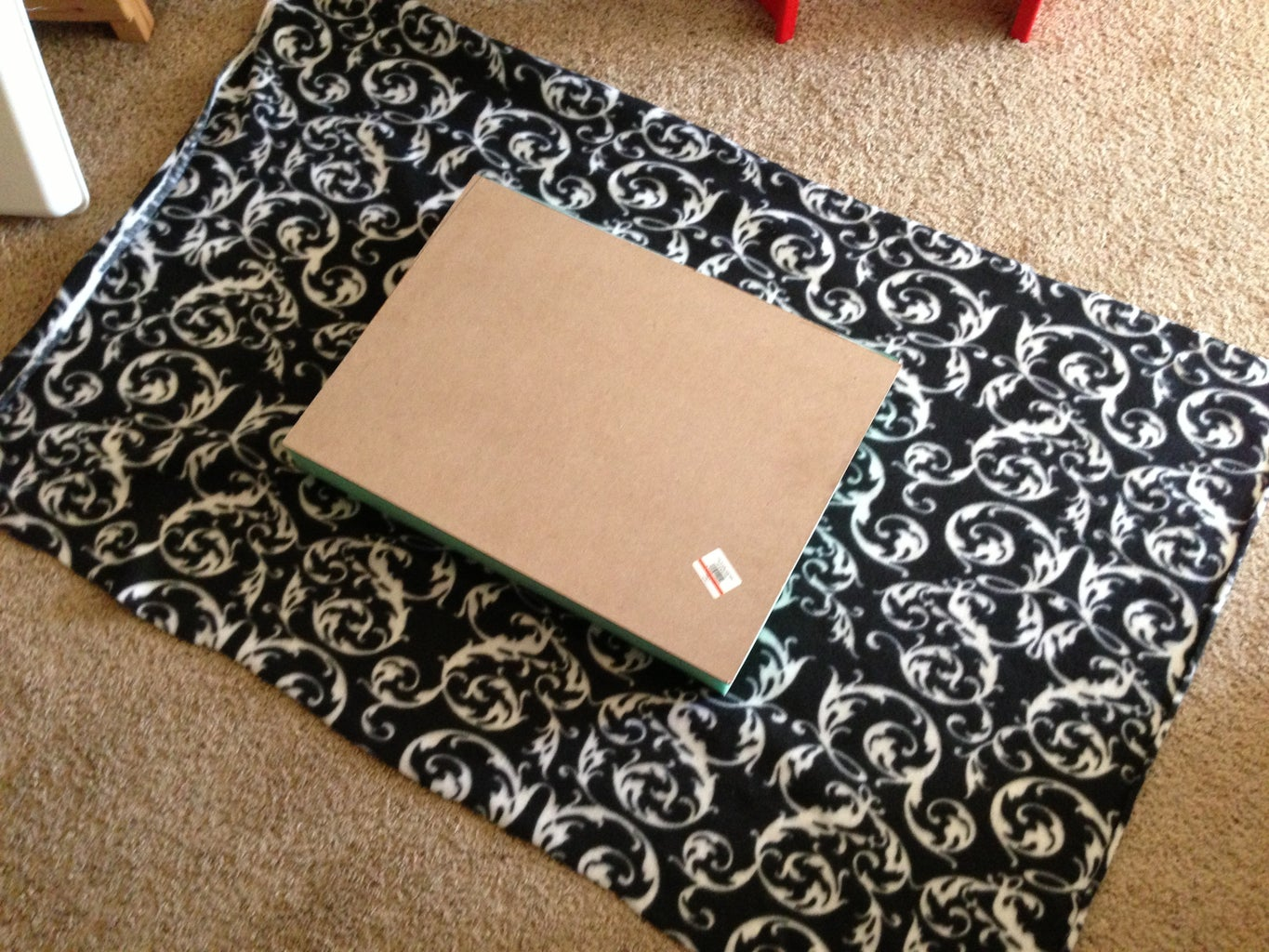 Cut Fabric to Size, Then Staple to the MDF