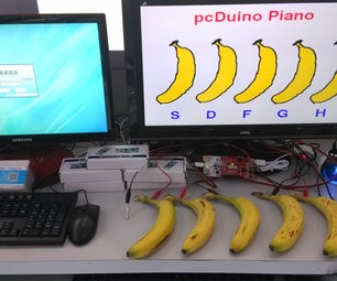 A Piano With Banana As Keyboard Powered by PcDuino