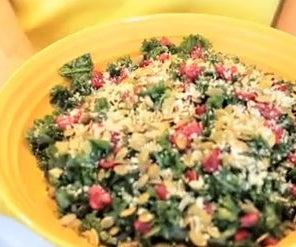 Massaged Kale Salad With Pepitas & Cranberries Recipe