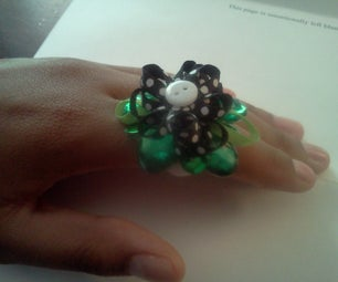 Bling Ring From Recycled Creamer Tab