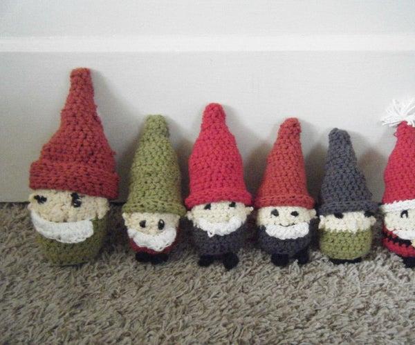 Crocheted Gnomes/Dwarfs (Including Santa)!