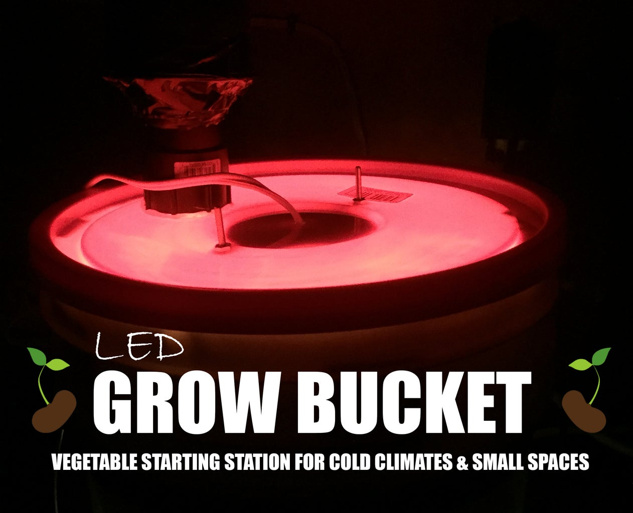 Grow Bucket - Small & Compact Vegetable Starting Station