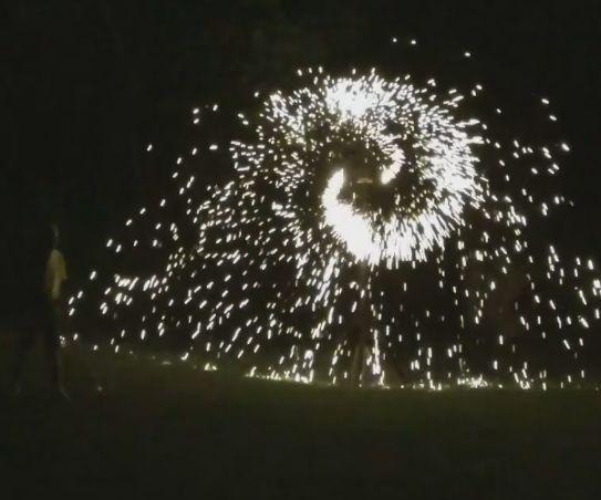 Simulated Fireworks Wheel