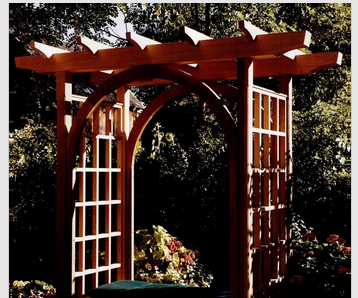 How to Build a Garden Trellis with Bench Seat