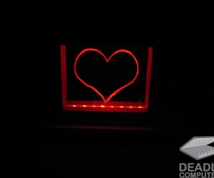 DIY LED Plexiglass Heart
