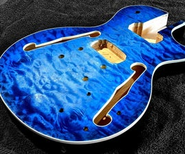 Apply a Blue Burst Guitar Finish With Dye!