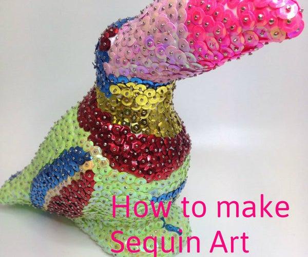 Toucan Sequin Art