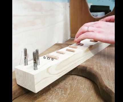 Single Plank Simple Dulcimer