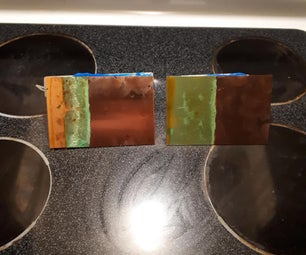 Copper Display Electroplating With Cobalt Salts and Graphite Electrodes.