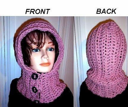 Buttoned Hood, Free crochet pattern