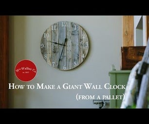 How to Make a Giant Clock (from a Pallet)