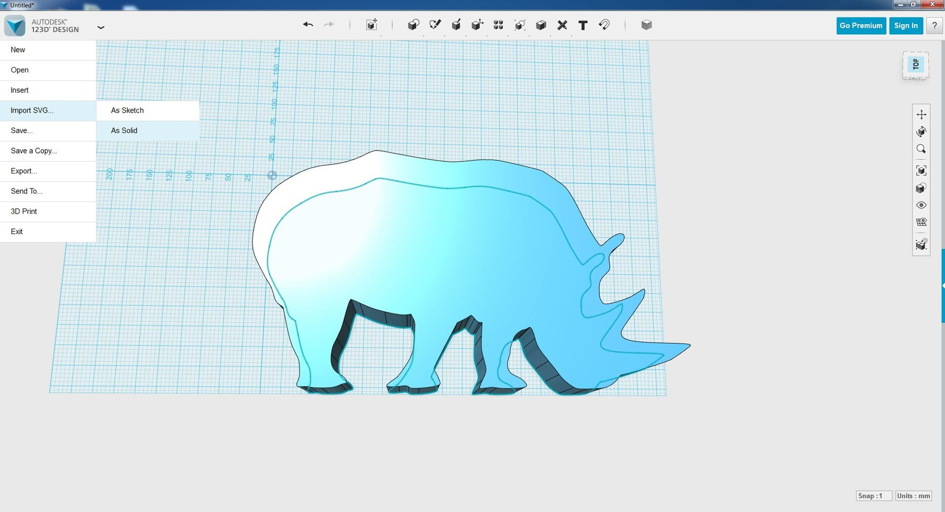 Turn Your Image 3D Using 123D Design