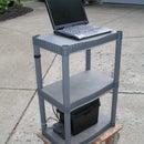 Portable 12V notebook stand workstation for garage or shop