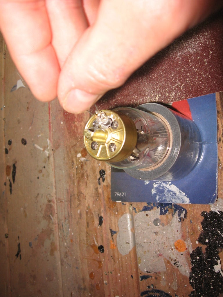 Installing the LED's Into the Vacuum Tubes