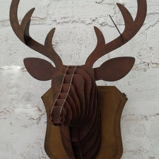 CNC Plasma Cut Deer Head