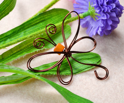 DIY: Wire Wrapped Dragonfly
