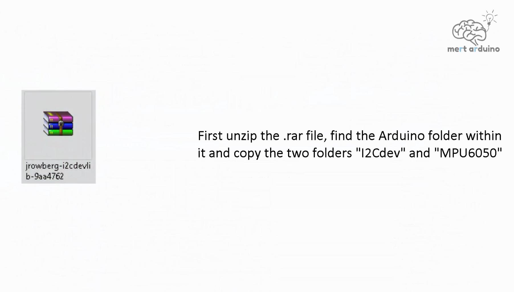 Install I2Cdev & MPU6050 Libraries