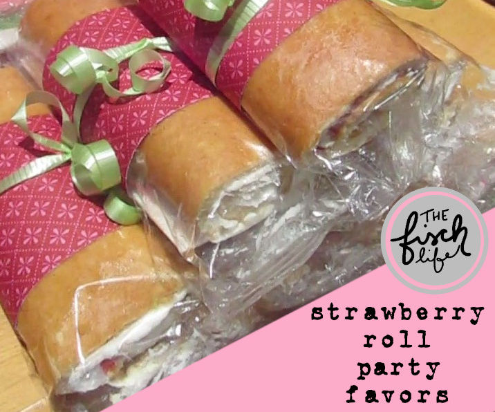 Easy Strawberry Roll Party Favors