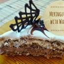 Meringue cake with walnuts