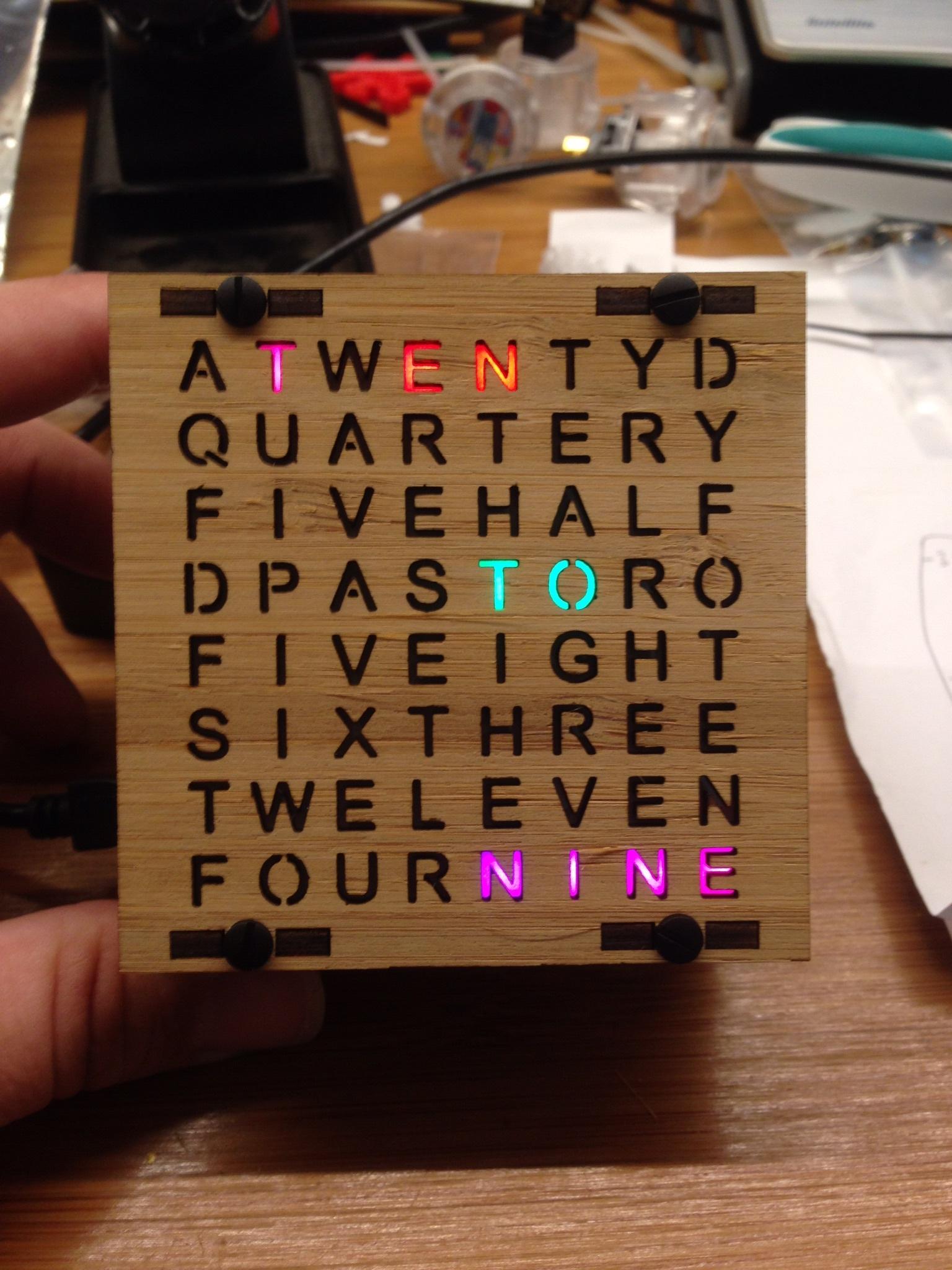 NeoMatrix 8x8 Word Clock