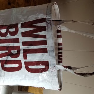 Grocery Tote Bag Made Out of 40lb Birdseed Sack