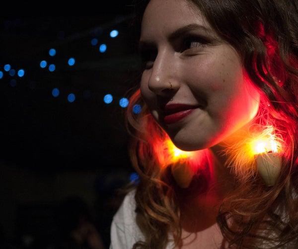 Faux Flame Earrings