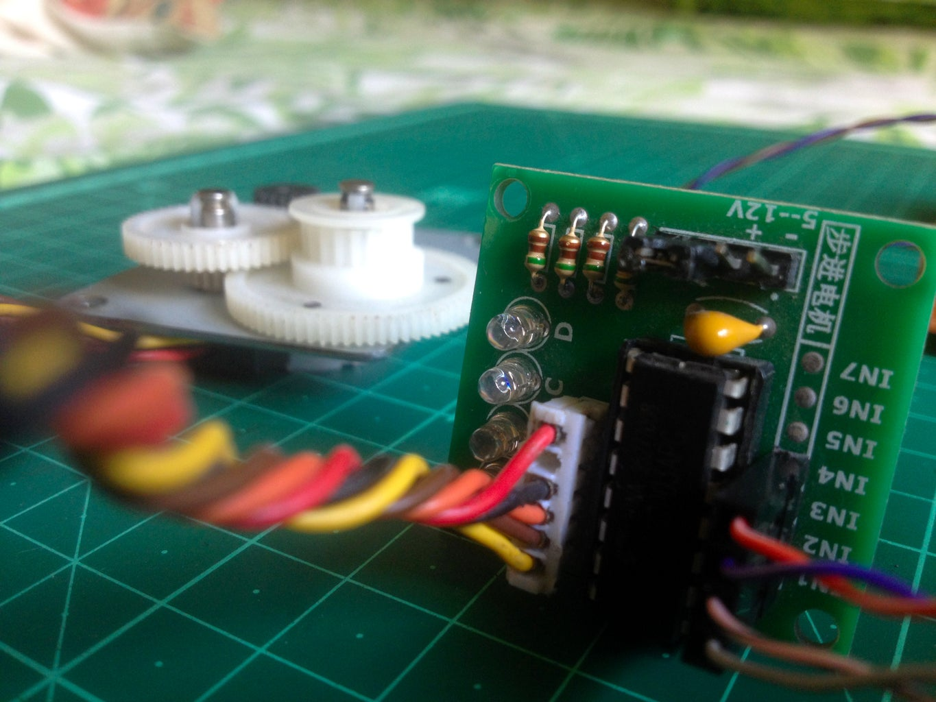 Connect the Stepper Motor to Be Driven to the Driver