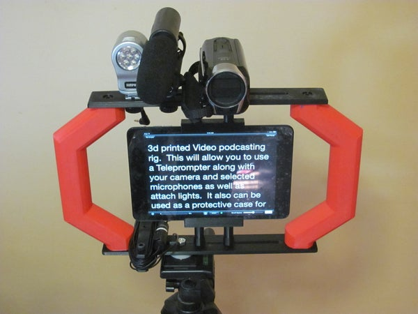 Video Podcasting Rig and Teleprompter