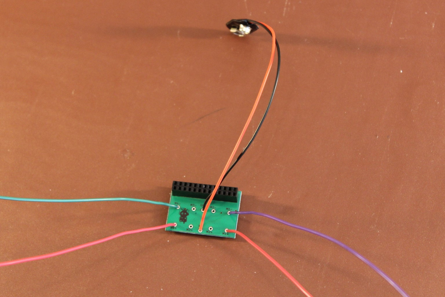 Solder the Wires and Battery Clip to the PicoBorg