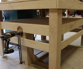Drill Powered Adjustable Height Work Bench!