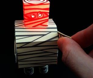 The Mummybot Papercraft With LED