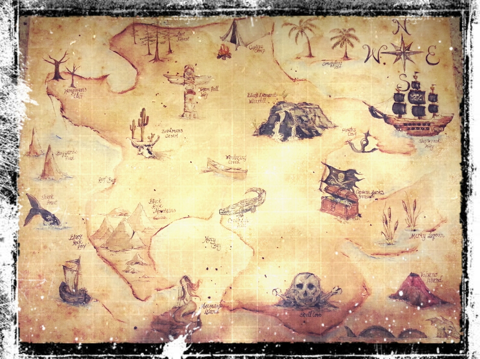 DIY Childrens Drawing Board (Treasure Map Example)