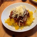 Super low carb, gluten free, vegan Spaghetti Bolognese