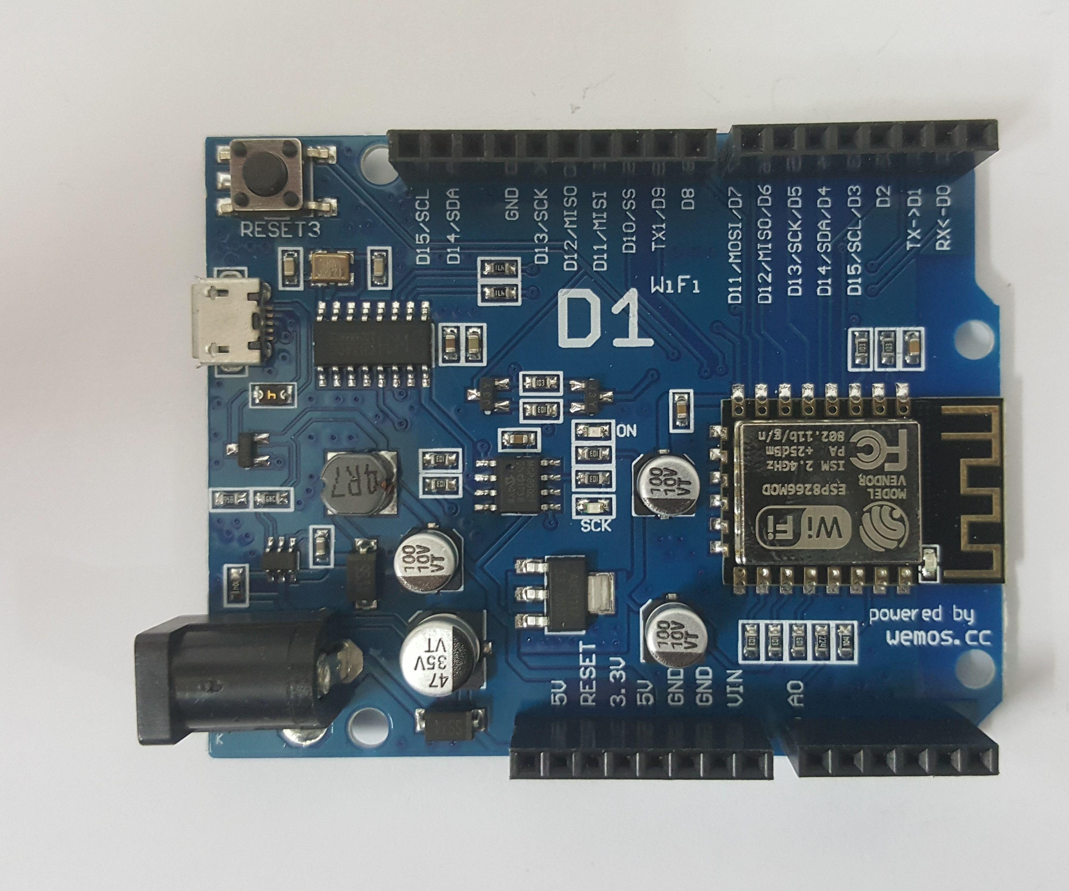 Arduino WeMos D1 WiFi UNO ESP 8266 IoT IDE Compatible Board