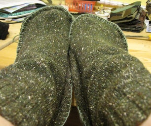 Up-cycled & Felted Sweater Slippers